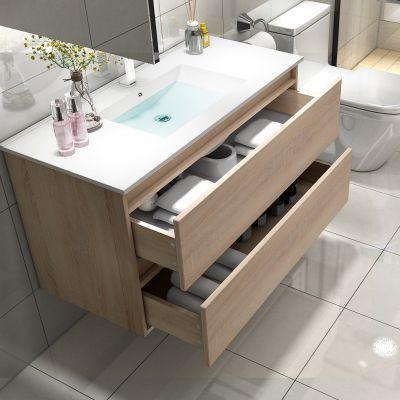 北欧浴室柜简约现代卫生间洗漱台洗手池洗脸盆卫浴柜洗手台盆组合