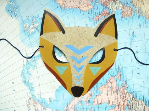 Coyote Mask Paper Animal Woodland Forest Party Or Wedding Favor