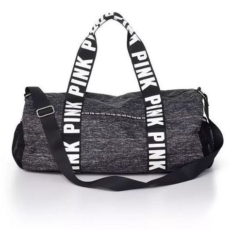 Victoria's Secret PINK  Duffle Bag Gym Overnight Luggage Suitcase Black Marl #VictoriasSecretPINK
