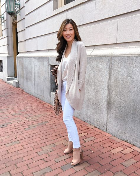 This Barefoot Dreams cardigan has a casual, cozy fabric good for loungewear, but you can also dress it up a bit with jeans and a pretty cami.