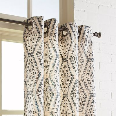 Primative Diamonds Taupe 84 Grommet Curtain With Images