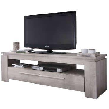 Meuble Tv Brent Coloris Chene Creme Vente De Meuble Et Support Tv Conforama Avec Images Mobilier De Salon Meuble Meuble Tv