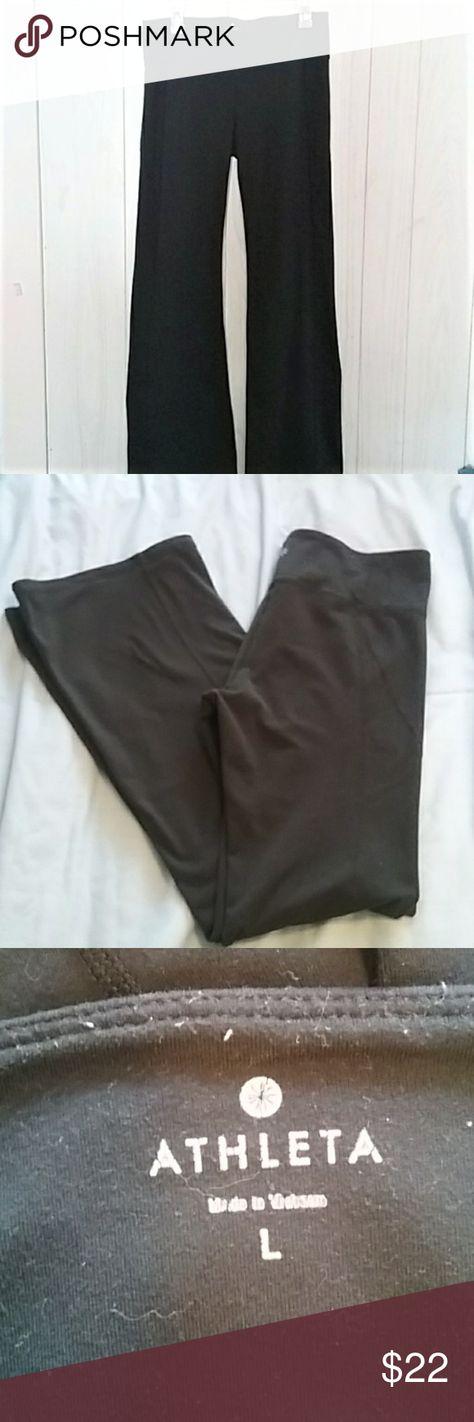 ff2e52a9c6 Athleta Revelation Yoga Pant Flare Leg Large Black yoga pants from Athleta.  Style is Revelation
