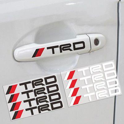 4pcs Reflective Car Sticker Design Toyota Car Stickers
