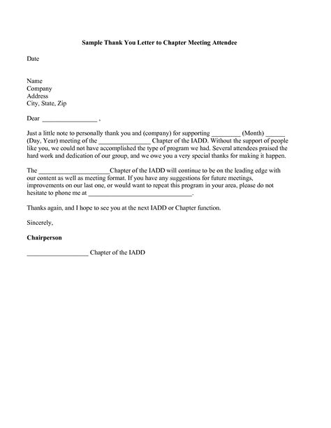 thank you letter after meeting for business thanks Home Design - meeting program sample