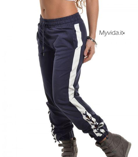 HMIYA Pantaloni Sportivi Donna Cotone Pantaloni da Jogging con Tasche per Yoga Palestra Fitness Pilates Morbidissimo Comodo e Caldo