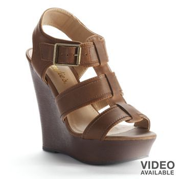 Candie's Strappy Wedge Sandals - Women #Kohls