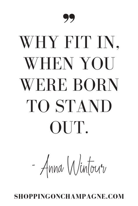 Do you love to get inspired by quotes? I've rounded up my favorite fashion quotes from designers such as Karl Lagerfeld and Coco Chanel as well as style leader like Vogue's Anna Wintour… Now Quotes, Life Quotes, Fit In Quotes, Anna Wintour Quotes, Coco Chanel, Chanel Chanel, Chanel Bags, Chanel Handbags, Fashion 101