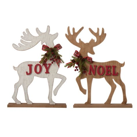 Mud Pie Christmas Tin Cutout Lantern Reindeer