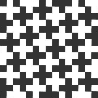 Black background transforming on White or the other way round? This pattern draws you into thought and the logic behind it. Which is clever specially when it comes to exhibitions and events.