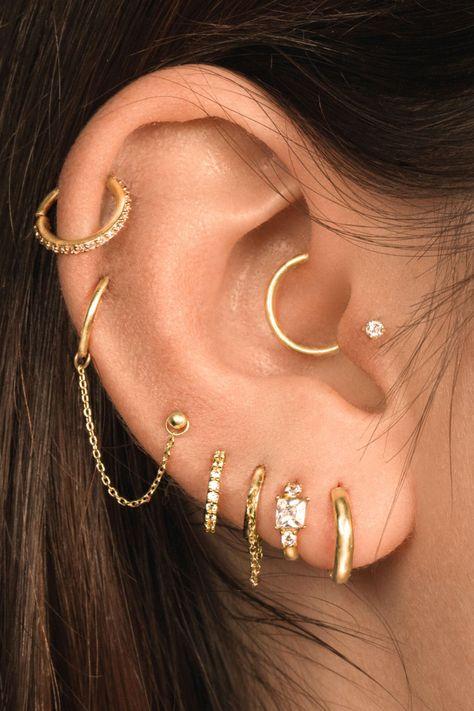 Wow-worthy Cartilage Ear Piercing Ideas