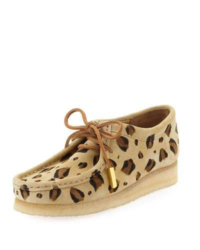 leopard print clarks