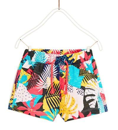 Spodenki Z Nadrukiem Spodnice I Spodenki Dziewczynka 5 14 Lat Dzieci Zara Polska Swimwear Zara Shopping