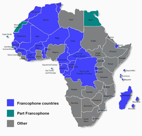 Risultati immagini per french speaking countries in africa