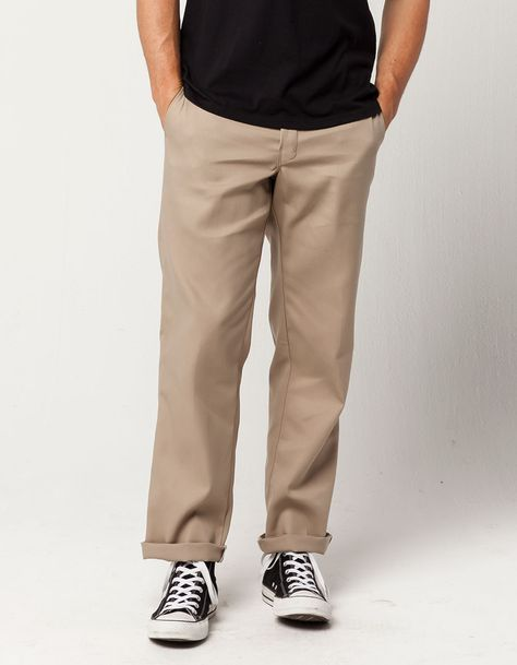 "New Dickies 874 ""The Original Work Pant"" Original Fit Beige Tan Kaki Pants, Khaki Pants Outfit, Mens Work Pants, Men Pants, Cargo Pants, Kakis, Dickies Pants, Indie Outfits, Retro Outfits"
