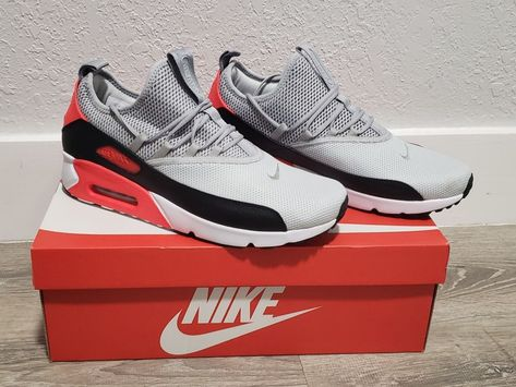 timeless design e3855 9af05 Nike Air Max 90 EZ Platinum Wolf Grey Black Infrared AO1745-002 Men s Sz 11   fashion  clothing  shoes  accessories  mensshoes  athleticshoes (ebay link)