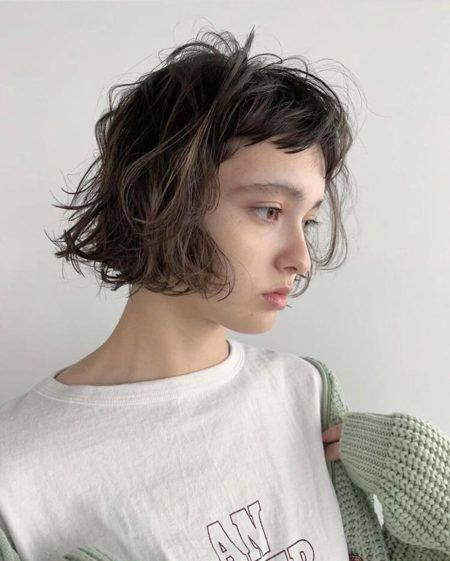 前髪 なし ミニボブ