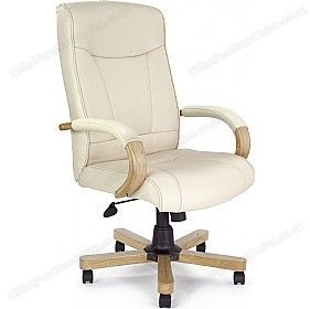 Farnham Executive Cream Leather Manager Chair Executive Office