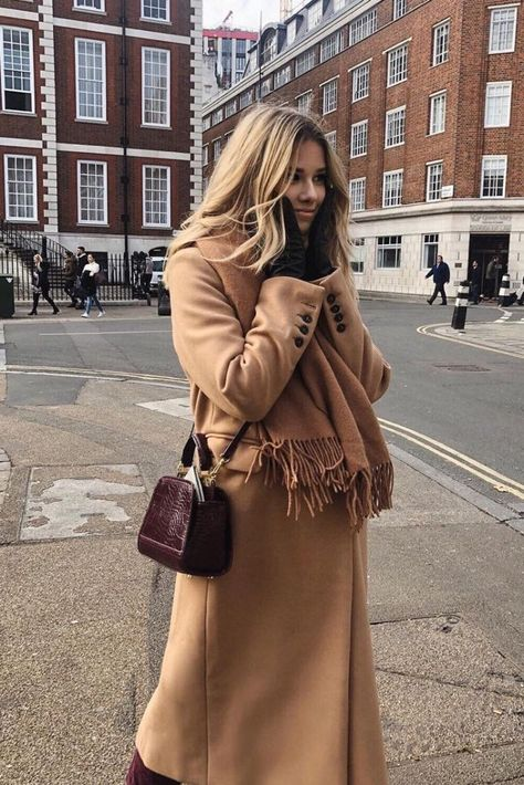 Neutral tones outfit, how to style camel coat #minimalisam #outfits #womensfashion