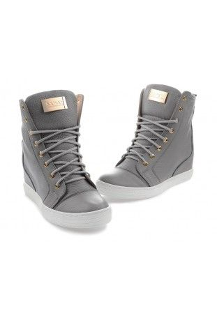 Szare Sneakersy Sofia High Top Sneakers Sneakers Shoes