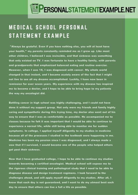 Sample Personal Statements Graduate School how to write a - example personal statements