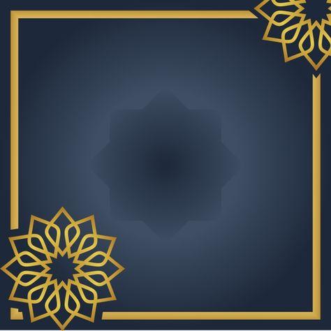 Islamic Greeting Background With Mandala Or Ornament