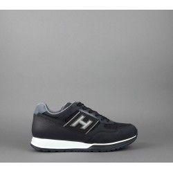 Hogan Sneakers H321 Uomo Nabuk Tela Pelle Blu Scuro H Rilievo Prezzo 330 00 Sneakers Blu Scuro Blu