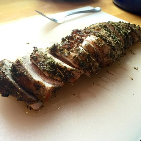 Super easy and cheap to make Herb Crusted Pork Loin. It's Paleo, too!