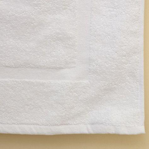 2 White Cotton Hotel Bath Mats 7 Dz 20x30 100 Cotton Commercial Grade Hotel Bath Mats Bath Appliances Towels Sale