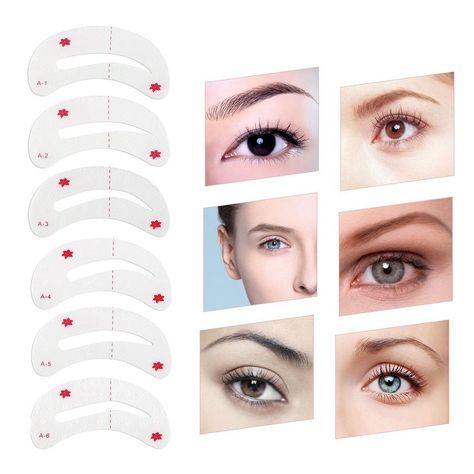 AkoaDa 8 PCS Different Eyebrow Stencils Brow Stencil Eyebrow Mold Eyebrow Assistant Tool