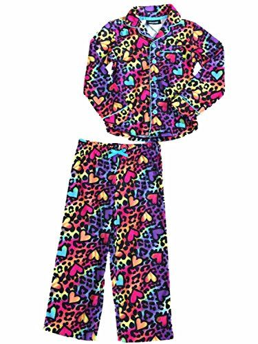 Joe Boxer Girls Rainbow Cheetah Pajamas Leopard Animal Print