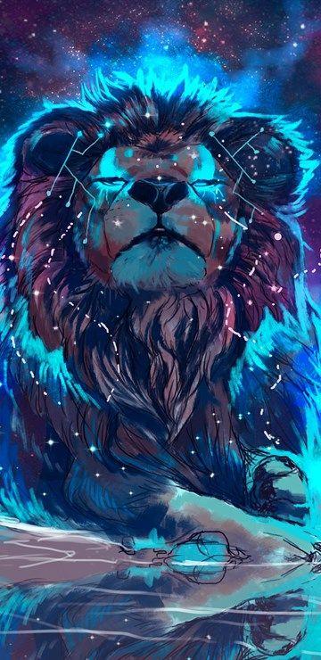 4k El Espacio El León El Arte La Galaxia Nebulosa En