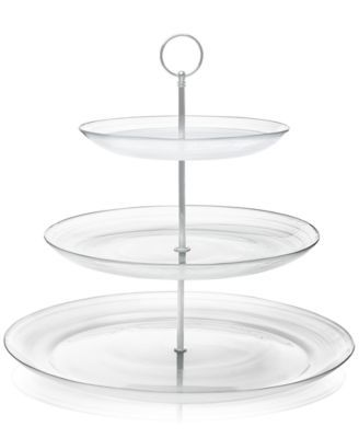 Closeout Swirl Glass 3 Tier Server Created For Macy S Macys Com Glass Collection Tiered Server Martha