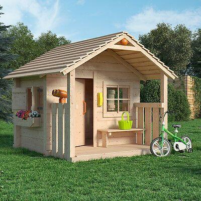 Colin Castle Spielhaus Kinderspielhaus Gartenhaus Holz Haus Mit Terrasse Veranda Ebay In 2020 Gartenhaus Kaufen Spielhaus Gartenhaus Holz