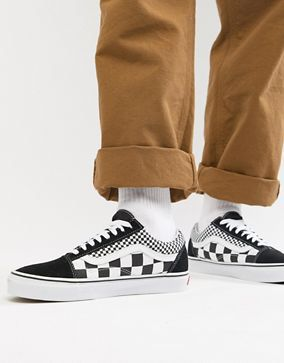Vans - Old Skool - Baskets style damier - Noir VN0A38G1Q9B1   ASOS ...