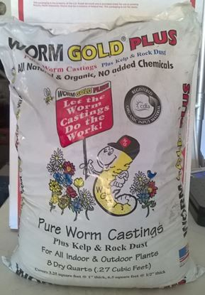 Wormgold Plus 8qt Bag Worm Castings Compost Tea Worms