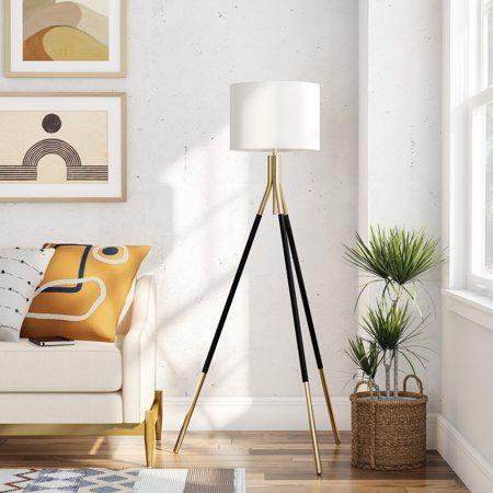 Modrn Tripod Floor Lamp And Table Lamp Set Black And Gold Walmart Com Walmart Com Tripod Floor Lamps Tripod Lamp Living Room Table Lamp Sets Living room floor lamps walmart