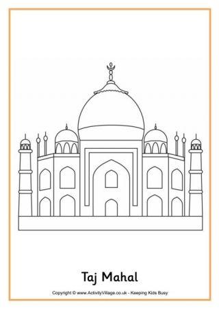 The Taj Mahal Taj Mahal Sketch Taj Mahal Drawing