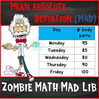 Mean Absolute Deviation Mad Lib Task Cards Task Cards Teaching