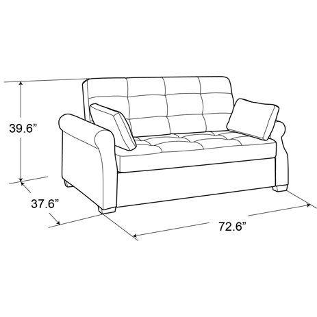Serta Haiden Queen Sofa Bed Gray Walmart Com In 2020 Sofas For Small Spaces Convertible Sofa Queen Size Sofa Bed