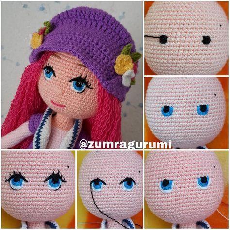 Papillon en papier: Amigurumi tips part 3 - dolls hair and eyes | 474x474