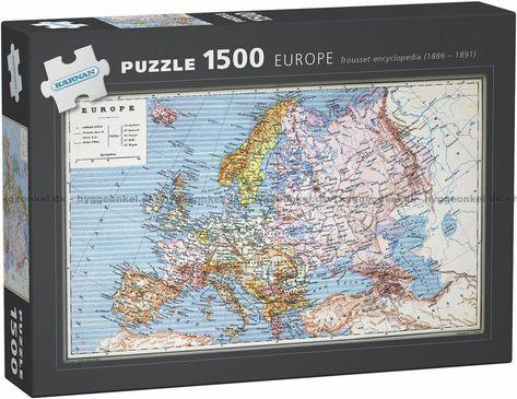 Europa 1886 1891 1500 Brikker Kort