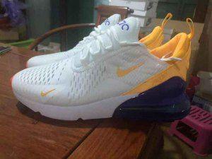 Mens Sneakers Nike Air Max 270 White/Laser Orange/Hyper ...