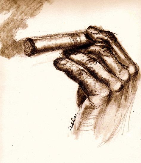 Cigar by Dallas Roquemore - Cigar Drawing - Cigar Fine Art Prints ...