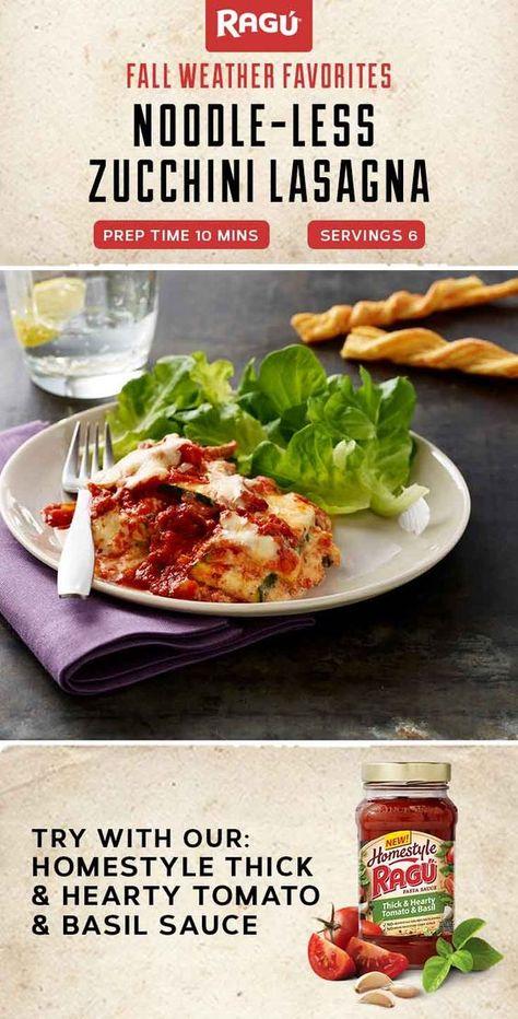 Noodle Less Zucchini Lasagna