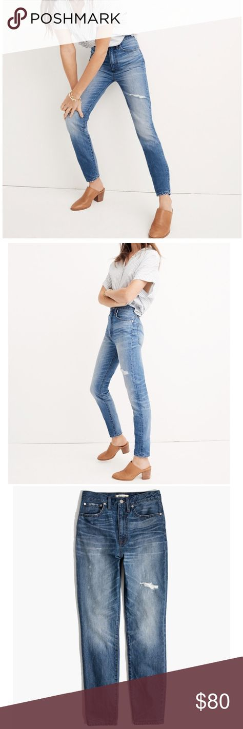Madewell Rigid High Rise Skinny Jeans Napa Wash Madewell Womens Size 31 Rigid High Rise Skinny Jeans Napa Wash Perfect Vintage  Retail: $98 For our Perfect Vintage Collection, we dreamed up 100% cotton styles with an authentic old-school look. These skinny jeans have a perfectly broken-in look thanks to artful destruction.  • Sit above hip, fitted through hip and thigh, with a skinny leg. • Premium 100% cotton denim from Italy's Candiani mill. • H5845  Condition: New With Tags! Size Tag: 31 Measurements: Rise: 11