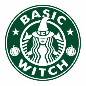 Starbucks Basic Witch Svg File Available For Instant Download Online In The Form Of Jpg Png Svg Cdr Ai Pdf Ep In 2020 Basic Witch Cricut Halloween Halloween Logo