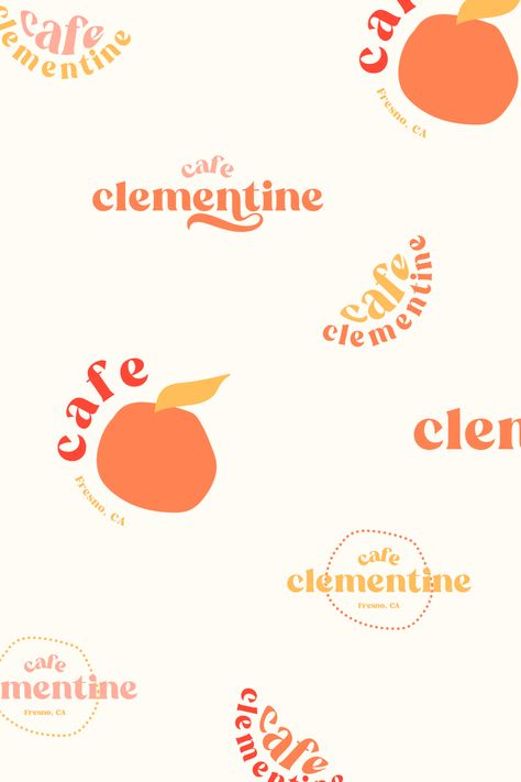 Cafe Clementine branding logo design by Rachael Loerwald