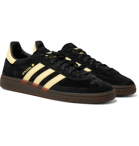 Handball Spezial Leather Trimmed Suede Sneakers In Black Suede Sneakers Sneakers Adidas Originals