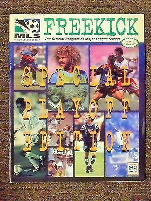 Sponsored 1996 Mls Inaugural Season Freekick Mls Cup 96 Special Playoff Edition Program In 2020 Mls Cup Soccer Season Playoffs